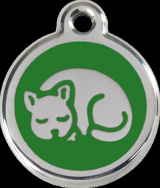 Katzenmarken mit Gravur, Adressanhänger für Katzen, Kitten Green