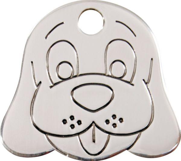 Premium grevierte Hundemarken-ID-Ausweis | Hundemarke + Gravur  |  Schutz + Sicherheit  |  Rostfreier EdelStahl Dog Face