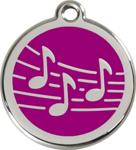 Hundemarken- Hundemarke mit Gravur - Tiermarke graviert Katzenmarke  Music Purple