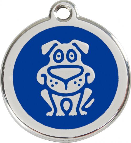 Hundemarken- Hundemarke mit Gravur - Tiermarke graviert Katzenmarke  Dog Dark Blue