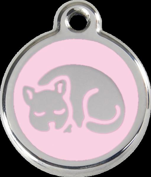 Katzenmarken mit Gravur, Adressanhänger für Katzen, Kitten Pink