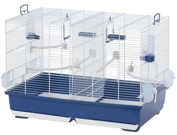 Vogelkäfig Leona 72 blau/weiss