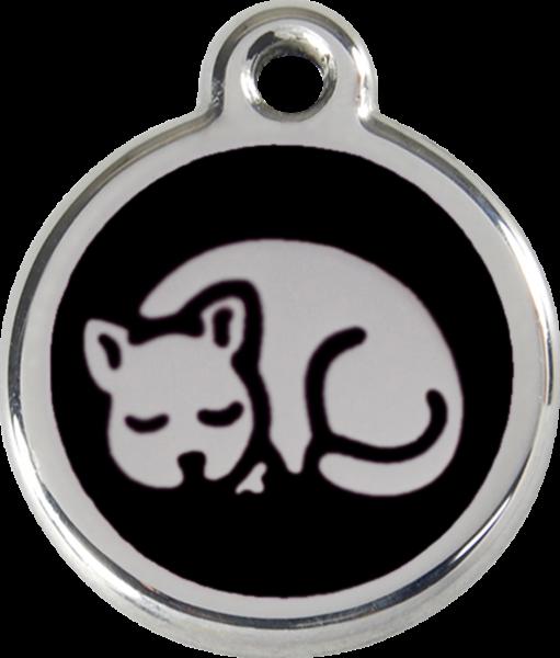 Katzenmarken mit Gravur, Adressanhänger für Katzen, Kitten Black