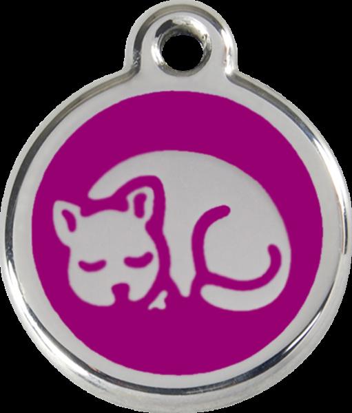 Katzenmarken mit Gravur, Adressanhänger für Katzen, Kitten Purple