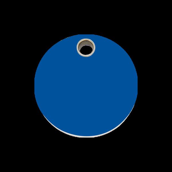 Hundemarke + Gravur, Hundemarken gravieren aus Plastik Circle Dark Blue