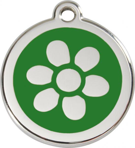 Hundemarken- Hundemarke mit Gravur - Tiermarke graviert Katzenmarke  Flower Green