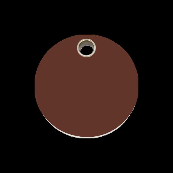 Hundemarke + Gravur, Hundemarken gravieren aus Plastik Circle Brown