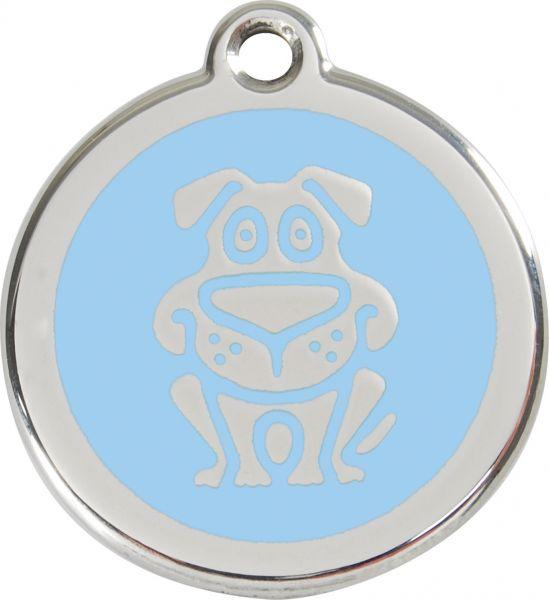 Hundemarken- Hundemarke mit Gravur - Tiermarke graviert Katzenmarke  Dog Light Blue