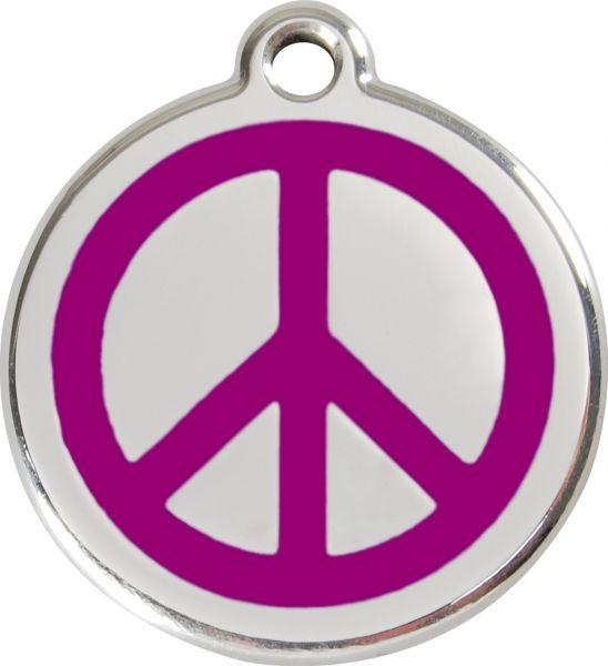 Hundemarken- Hundemarke mit Gravur - Tiermarke graviert Katzenmarke  Peace Purple