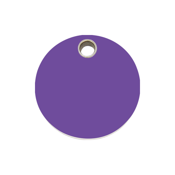 Hundemarke + Gravur, Hundemarken gravieren aus Plastik Circle Purple