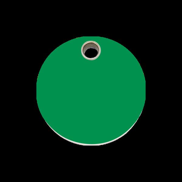 Hundemarke + Gravur, Hundemarken gravieren aus Plastik Circle Green