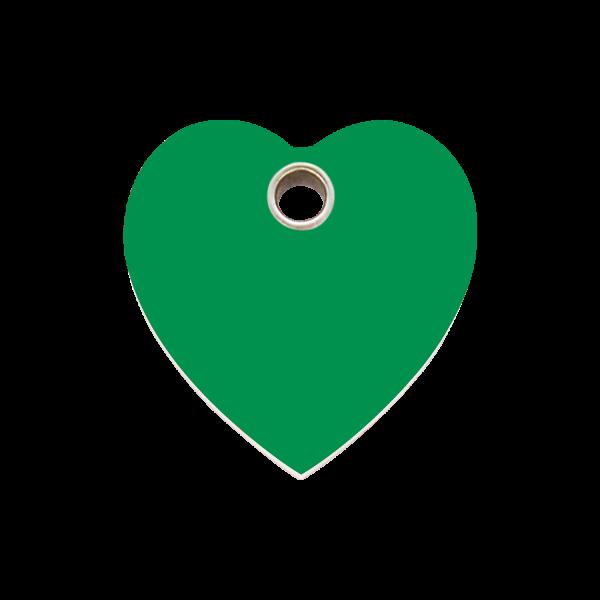 Hundemarke + Gravur, Hundemarken gravieren aus Plastik Heart Green