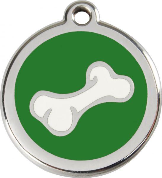 Hundemarken- Hundemarke mit Gravur - Tiermarke graviert Katzenmarke  Bone Green